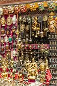 stock photo of nepali  - Plenty of Souvenirs in Nepali Giftshop - JPG