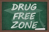 Drug Free Zone Message poster