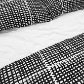 Black And White Bed Linen With Pillows