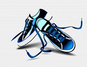 Beautiful Blue Pair Of Sneakers