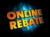 Online Rebate - Gold 3D Words.