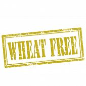 stock photo of wheat-free  - Grunge rubber stamp with text Wheat Free - JPG