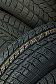 Tyre texture closeup os various patterns