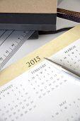 Close Up Pen On Calendar