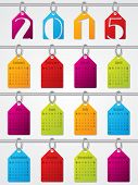 Hanging Labels 2015 Calendar Design