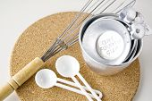 Measuring Cups With Spoon And Whisk
