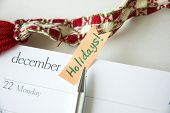 Pen Point To Holiday Note