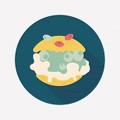 Cream Puffs Flat Icon With Long Shadow,eps10