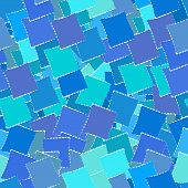 Retro Geometric Seamless Patternof Blue Squares