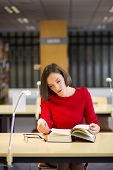 Woman In Library Read Book For Reason