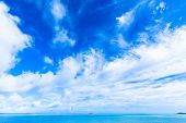 White clouds and blue sky in Okinawa