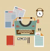 desktop typists illustration  illustration