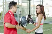 Paddle Tennis Players Fair Play