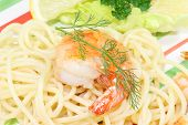 Spaghetti With Shrimps poster