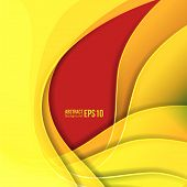 Abstract yellow light vector background. forms a smooth transition and waves.