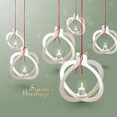 Vector Paper Christmas Bauble Sculptures