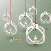 Vector Paper Christmas Bauble Sculptures