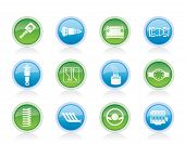 Realistic Car Parts and Services Vector icons