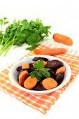 Fresh Orange And Purple Carrots