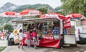 Kiosk On The Roadside- Tour De France 2014