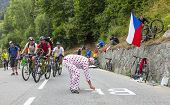 Fans On The Road Of Le Tour De France
