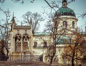 Potocki mausoleum in the park - Wilanow palace area, Warsaw, Poland