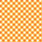 image of thanksgiving  - Orange and ocher gingham cloth background with fabric texture - JPG