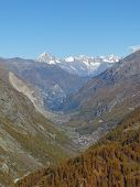 View From The Gornergrat Towards Randa