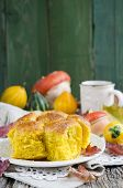 Pumpkin Brioche, french bread