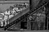 Old Staircase With Graffiti