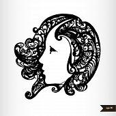 Zodiac signs black and white - Virgo