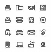 picture of mainframe  - Simple icon set related to computer parts and components - JPG