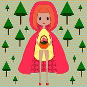 stock photo of little red riding hood  - Illustration of little red riding hood - JPG