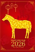 Chinese New Year Design For Year Of Horse
