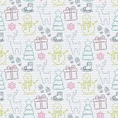 Vector seamless Christmas pattern
