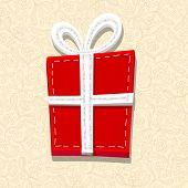 Needlecraft Christmas Present, vector eps10 illustration