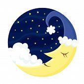 Cute sleeping Moon