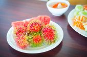 Rambutan On The Plate
