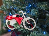 Christmas Tree With Bike