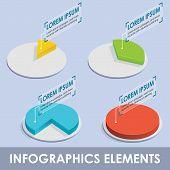 Vector isometric infographic diagrams