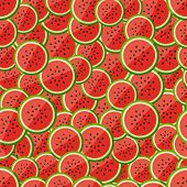 Seamless pattern chopped watermelon