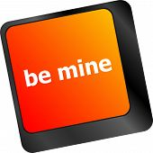 Be Mine Words On Keyboard Enter Key