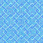 Cross stitch square Blue pattern seamless background