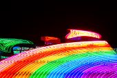 Colorful night rainbow illumination