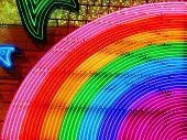 Colorful night rainbow illumination