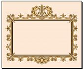 Blank Ornate Invitation Card