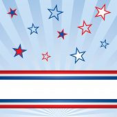 American Patriotic Banner with Stars