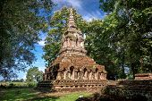 Buddhist temple named Wat Pha sak in Chiangrai province of Thailand