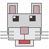 vector cartoon face cat