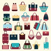 Collection Of Bags, Handbags And Travel Bag
